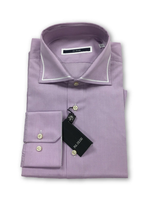 Pal Zileri shirt in purple and white check- khakisurfer.com Latest menswear designer brands added include Eton, Etro, Agave Denim, Pal Zileri, Circle of Gentlemen, Ralph Lauren, Scotch and Soda, Hugo Boss, Armani Jeans, Armani Collezioni.