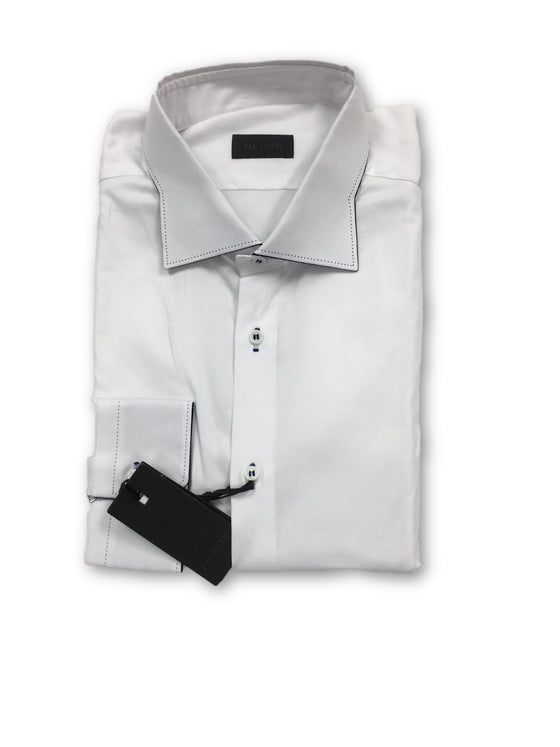 Pal Zileri shirt in white cotton Oxford with shaped collar- khakisurfer.com Latest menswear designer brands added include Eton, Etro, Agave Denim, Pal Zileri, Circle of Gentlemen, Ralph Lauren, Scotch and Soda, Hugo Boss, Armani Jeans, Armani Collezioni.