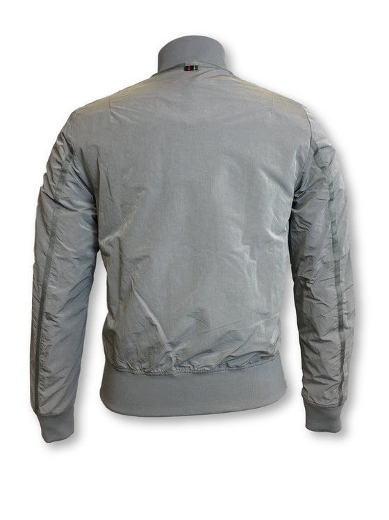 Paul Smith nylon/polyester bomber jacket in light grey- khakisurfer.com Latest menswear designer brands added include Eton, Etro, Agave Denim, Pal Zileri, Circle of Gentlemen, Ralph Lauren, Scotch and Soda, Hugo Boss, Armani Jeans, Armani Collezioni.