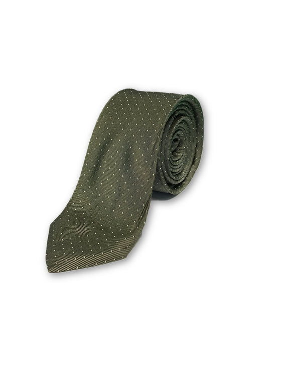 Strellson tie in grey with white dot pattern-khakisurfer.com
