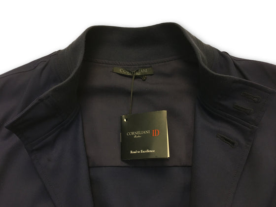 Corneliani ID jacket in navy made in Italy- khakisurfer.com Latest menswear designer brands added include Eton, Etro, Agave Denim, Pal Zileri, Circle of Gentlemen, Ralph Lauren, Scotch and Soda, Hugo Boss, Armani Jeans, Armani Collezioni.
