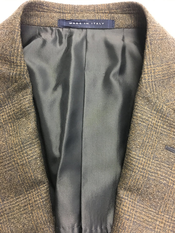 Pal Zileri semi structured jacket in brown/green check- khakisurfer.com Latest menswear designer brands added include Eton, Etro, Agave Denim, Pal Zileri, Circle of Gentlemen, Ralph Lauren, Scotch and Soda, Hugo Boss, Armani Jeans, Armani Collezioni.