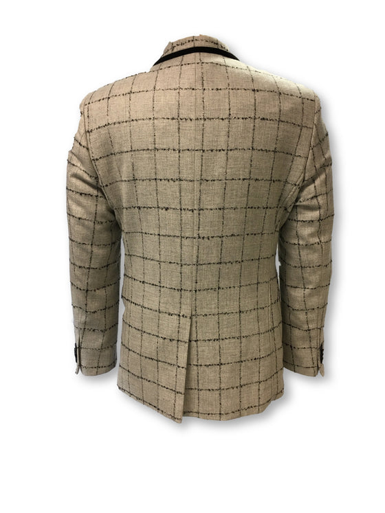 Claudio Lugli structured jacket in grey check