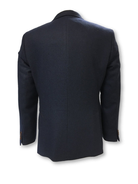 Claudio Lugli structured waffle jacket in navy