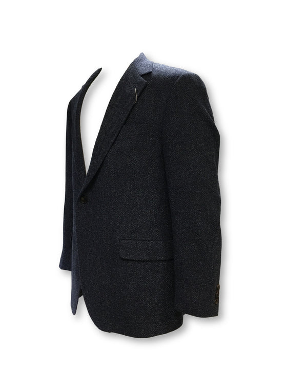 Coppley Gibson structured jacket in blue marl