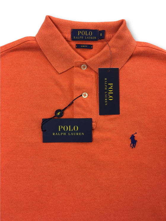 Ralph Lauren Polo slim fit polo in orange