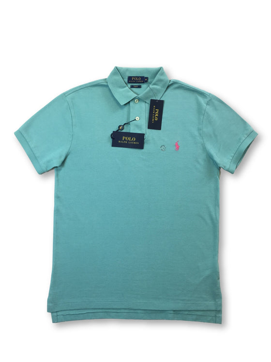 Ralph Lauren Polo slim fit polo in turquoise