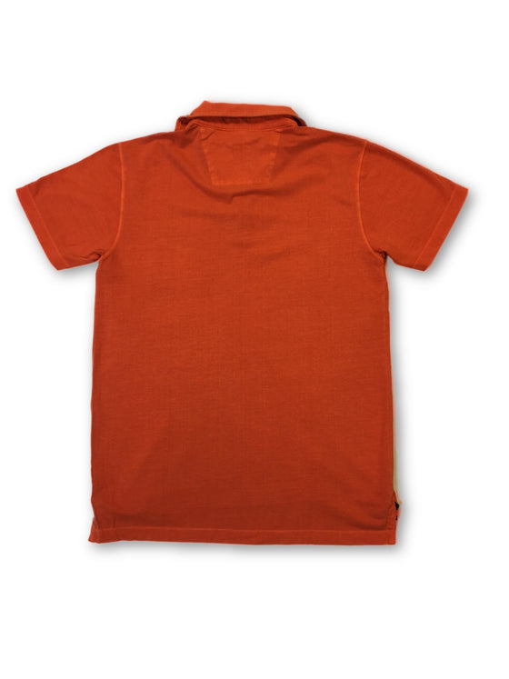 Tailor Vintage 3 button polo in orange- khakisurfer.com Latest menswear designer brands added include Eton, Etro, Agave Denim, Pal Zileri, Circle of Gentlemen, Ralph Lauren, Scotch and Soda, Hugo Boss, Armani Jeans, Armani Collezioni.