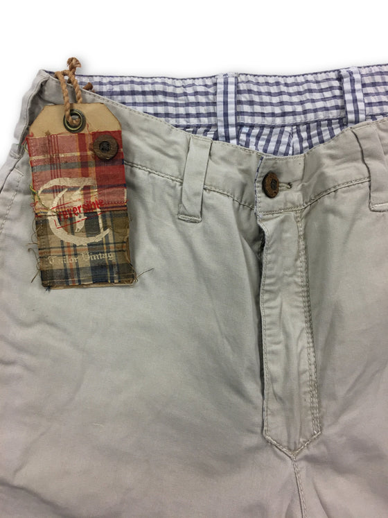 Tailor Vintage reversible shorts in stone- khakisurfer.com Latest menswear designer brands added include Eton, Etro, Agave Denim, Pal Zileri, Circle of Gentlemen, Ralph Lauren, Scotch and Soda, Hugo Boss, Armani Jeans, Armani Collezioni.