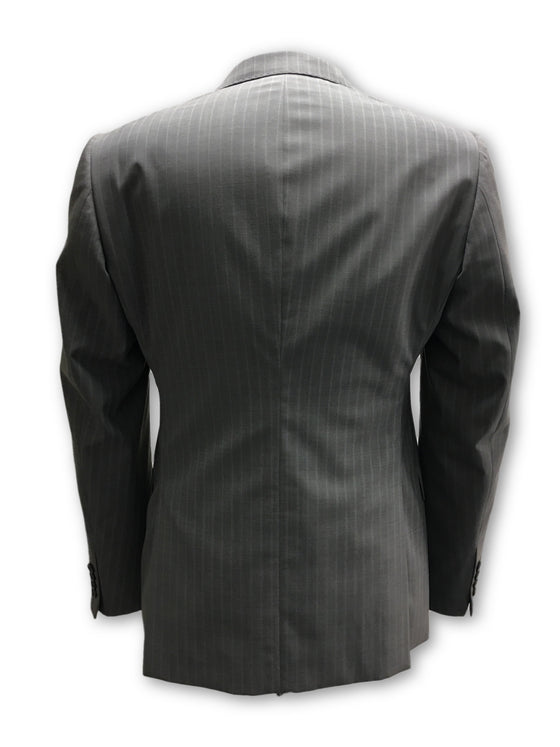 Armani Collezioni Metropolitan jacket in grey pin stripe- khakisurfer.com Latest menswear designer brands added include Eton, Etro, Agave Denim, Pal Zileri, Circle of Gentlemen, Ralph Lauren, Scotch and Soda, Hugo Boss, Armani Jeans, Armani Collezioni.