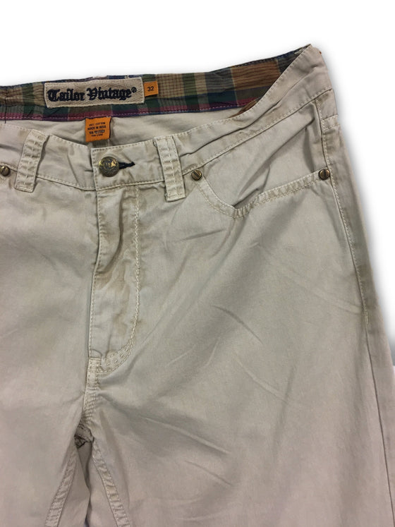 Tailor Vintage jeans in stone cotton- khakisurfer.com Latest menswear designer brands added include Eton, Etro, Agave Denim, Pal Zileri, Circle of Gentlemen, Ralph Lauren, Scotch and Soda, Hugo Boss, Armani Jeans, Armani Collezioni.