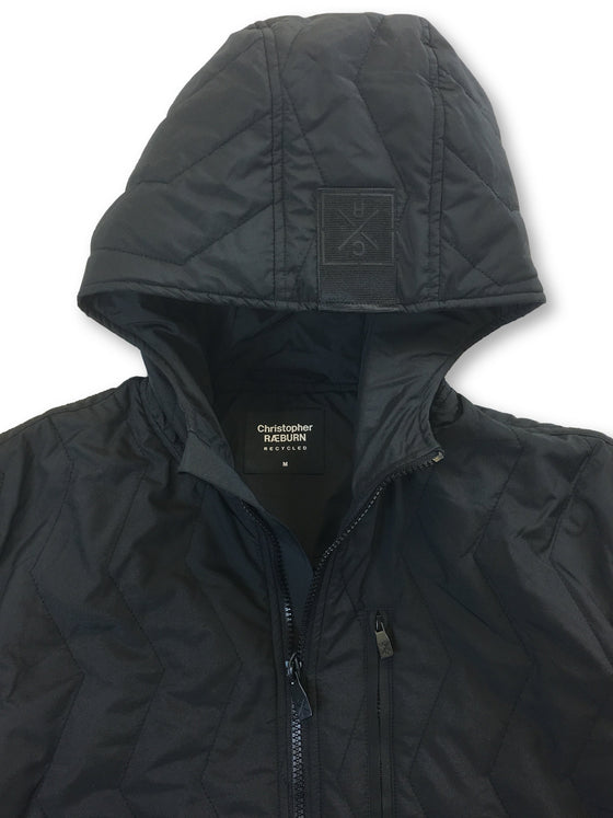 Christopher Raeburn Recycled hooded quilted windbreaker in black- khakisurfer.com Latest menswear designer brands added include Eton, Etro, Agave Denim, Pal Zileri, Circle of Gentlemen, Ralph Lauren, Scotch and Soda, Hugo Boss, Armani Jeans, Armani Collezioni.