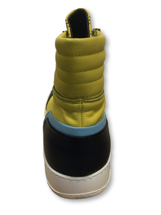 Bruno Bordese Milano high tops in yellow and navy- khakisurfer.com Latest menswear designer brands added include Eton, Etro, Agave Denim, Pal Zileri, Circle of Gentlemen, Ralph Lauren, Scotch and Soda, Hugo Boss, Armani Jeans, Armani Collezioni.