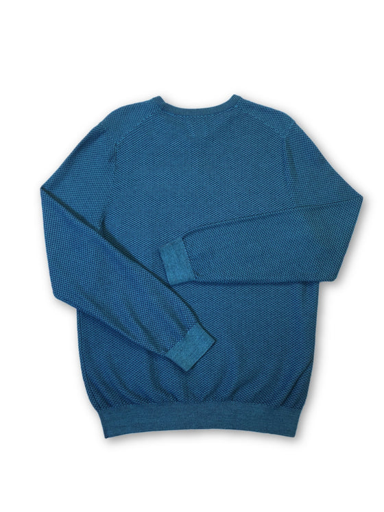 Olymp casual knitwear in light blue waffle pattern- khakisurfer.com Latest menswear designer brands added include Eton, Etro, Agave Denim, Pal Zileri, Circle of Gentlemen, Ralph Lauren, Scotch and Soda, Hugo Boss, Armani Jeans, Armani Collezioni.