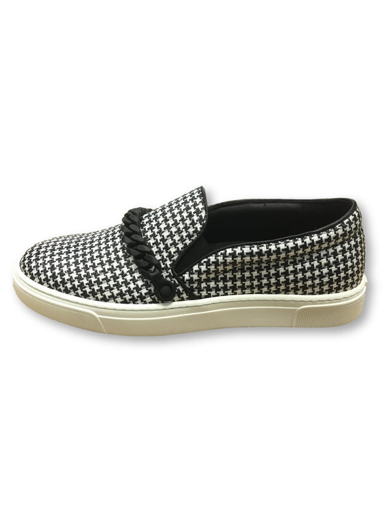 Louis Leeman slip on sneakers with chain in black/white- khakisurfer.com Latest menswear designer brands added include Eton, Etro, Agave Denim, Pal Zileri, Circle of Gentlemen, Ralph Lauren, Scotch and Soda, Hugo Boss, Armani Jeans, Armani Collezioni.