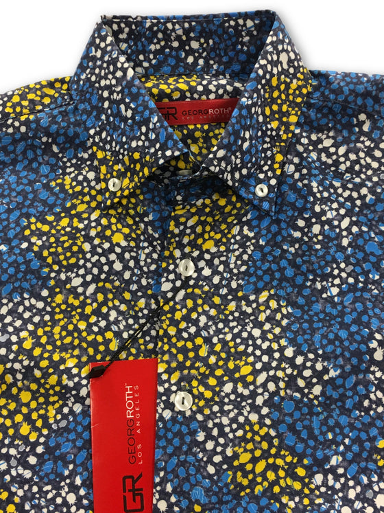 Georg Roth shirt in yellow blue and white- khakisurfer.com Latest menswear designer brands added include Eton, Etro, Agave Denim, Pal Zileri, Circle of Gentlemen, Ralph Lauren, Scotch and Soda, Hugo Boss, Armani Jeans, Armani Collezioni.