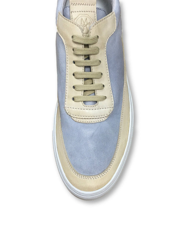 Mariano Di Vaio Mercury trainers in light blue/beige- khakisurfer.com Latest menswear designer brands added include Eton, Etro, Agave Denim, Pal Zileri, Circle of Gentlemen, Ralph Lauren, Scotch and Soda, Hugo Boss, Armani Jeans, Armani Collezioni.