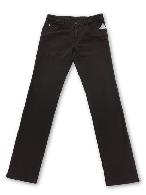 Pal Zileri jeans in maroon stretch cotton- khakisurfer.com Latest menswear designer brands added include Eton, Etro, Agave Denim, Pal Zileri, Circle of Gentlemen, Ralph Lauren, Scotch and Soda, Hugo Boss, Armani Jeans, Armani Collezioni.