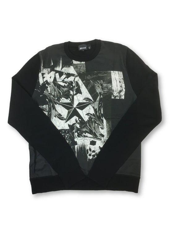 Just Cavalli knitwear in black with white print- khakisurfer.com Latest menswear designer brands added include Eton, Etro, Agave Denim, Pal Zileri, Circle of Gentlemen, Ralph Lauren, Scotch and Soda, Hugo Boss, Armani Jeans, Armani Collezioni.