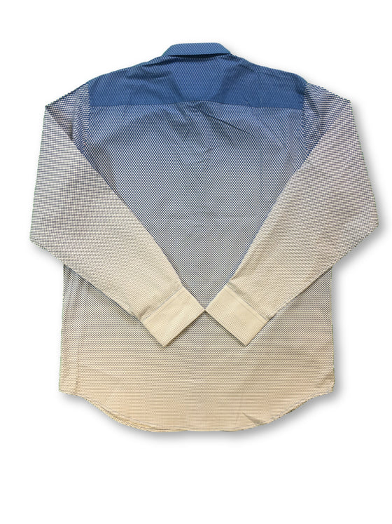 Bugatchi classic fit shirt in blue graduating to white