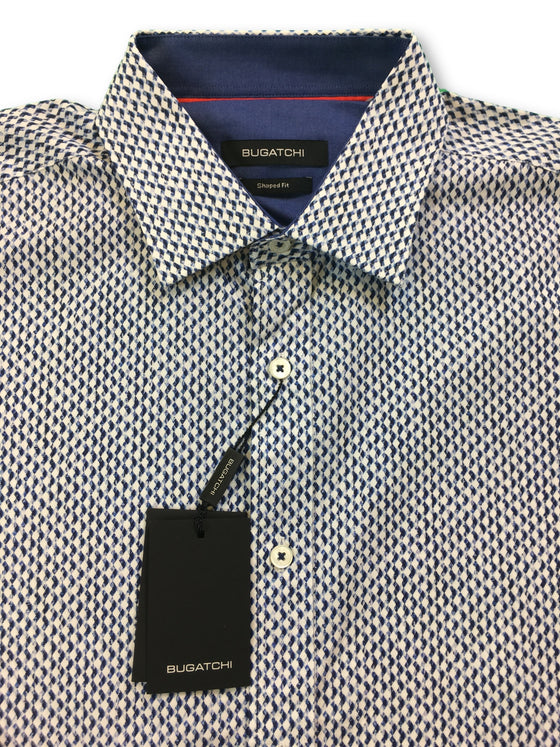 Bugatchi shaped fit shirt in navy and white diamond print- khakisurfer.com Latest menswear designer brands added include Eton, Etro, Agave Denim, Pal Zileri, Circle of Gentlemen, Ralph Lauren, Scotch and Soda, Hugo Boss, Armani Jeans, Armani Collezioni.