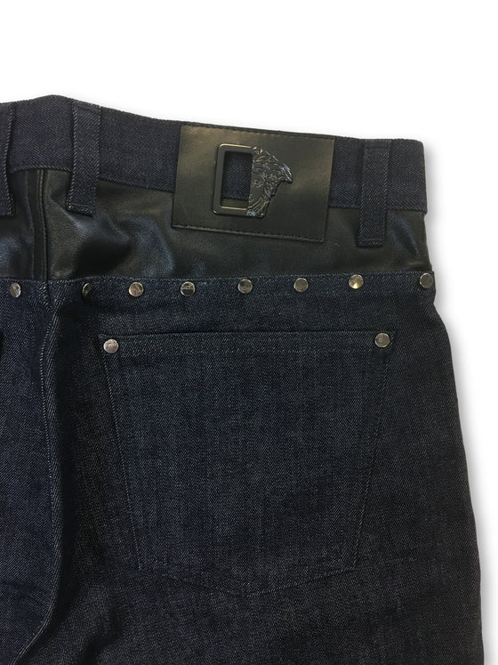 Versace Collection lightweight denim jeans in navy- khakisurfer.com Latest menswear designer brands added include Eton, Etro, Agave Denim, Pal Zileri, Circle of Gentlemen, Ralph Lauren, Scotch and Soda, Hugo Boss, Armani Jeans, Armani Collezioni.