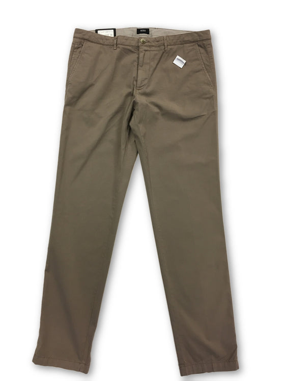 HUGO BOSS 'crigan3' flat front chino in beige- khakisurfer.com Latest menswear designer brands added include Eton, Etro, Agave Denim, Pal Zileri, Circle of Gentlemen, Ralph Lauren, Scotch and Soda, Hugo Boss, Armani Jeans, Armani Collezioni.