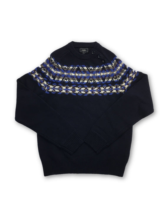 Boomerang knitwear in navy- khakisurfer.com Latest menswear designer brands added include Eton, Etro, Agave Denim, Pal Zileri, Circle of Gentlemen, Ralph Lauren, Scotch and Soda, Hugo Boss, Armani Jeans, Armani Collezioni.