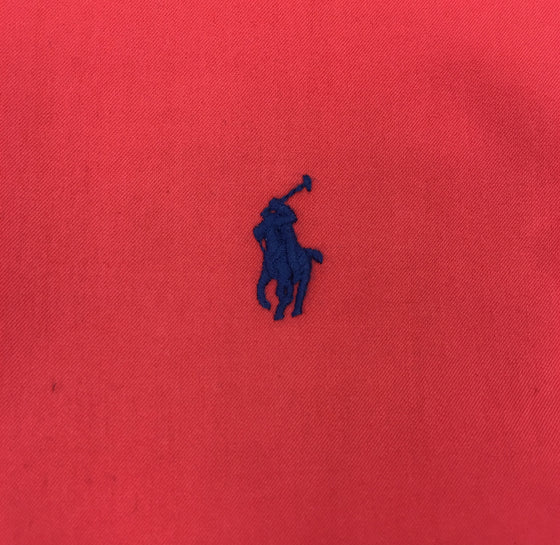 Ralph Lauren slim fit featherweight twill shirt in red with navy logo- khakisurfer.com Latest menswear designer brands added include Eton, Etro, Agave Denim, Pal Zileri, Circle of Gentlemen, Ralph Lauren, Scotch and Soda, Hugo Boss, Armani Jeans, Armani Collezioni.