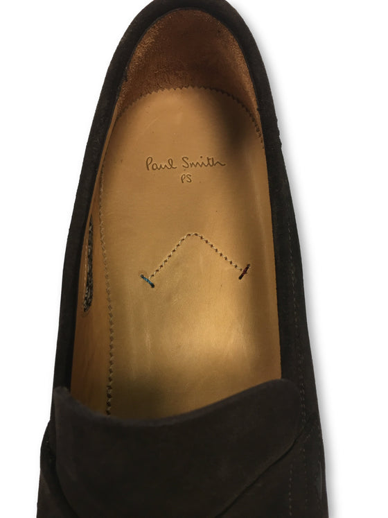 Paul Smith Gifford suede loafers in brown