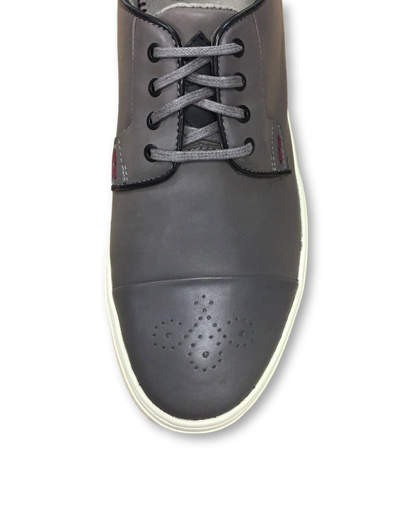 Paul Smith Jeans Minster brogue tip sneakers in grey