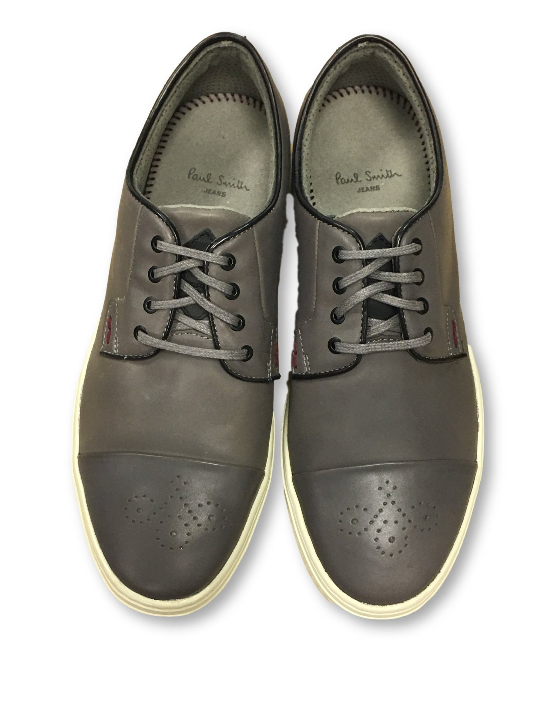 d3cc51d0ee7 Paul Smith Jeans Minster brogue tip sneakers in grey. Size Charts