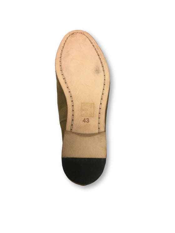 Paolo Vandini KP-Tanner suede tassel loafers in tan