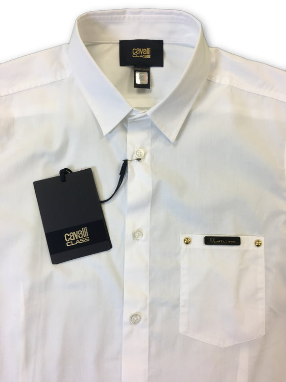 95fc929c ... Cavalli Class shirt in white- khakisurfer.com Latest menswear designer  brands added include Eton ...