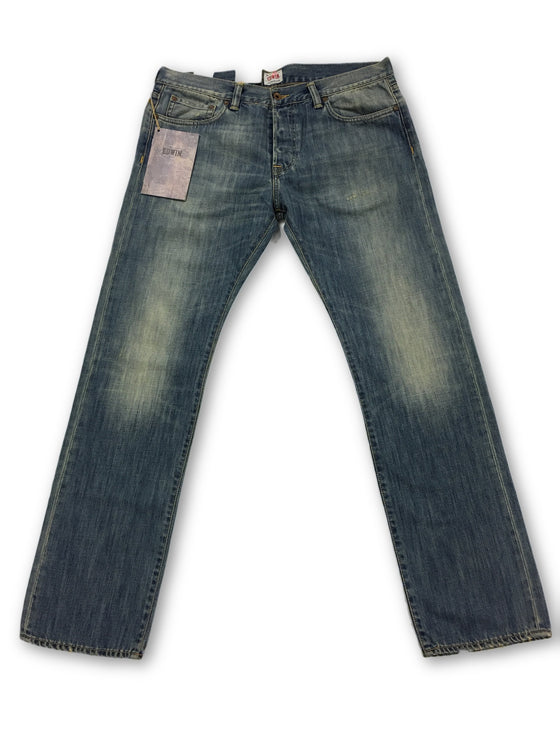 Edwin faded slim fit denim Jeans in light blue- khakisurfer.com Latest menswear designer brands added include Eton, Etro, Agave Denim, Pal Zileri, Circle of Gentlemen, Ralph Lauren, Scotch and Soda, Hugo Boss, Armani Jeans, Armani Collezioni.
