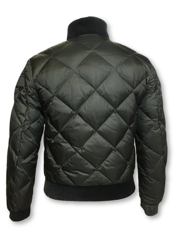 Armani Collezioni quilted bomber jacket in brown/khaki- khakisurfer.com Latest menswear designer brands added include Eton, Etro, Agave Denim, Pal Zileri, Circle of Gentlemen, Ralph Lauren, Scotch and Soda, Hugo Boss, Armani Jeans, Armani Collezioni.