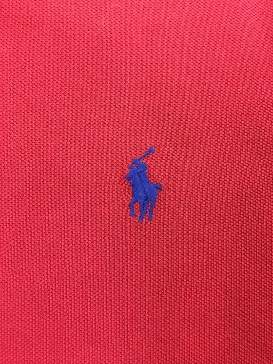 Ralph Lauren Polo custom slim fit cotton polo in red with blue logo- khakisurfer.com Latest menswear designer brands added include Eton, Etro, Agave Denim, Pal Zileri, Circle of Gentlemen, Ralph Lauren, Scotch and Soda, Hugo Boss, Armani Jeans, Armani Collezioni.