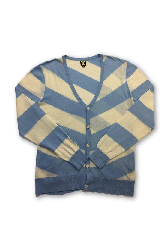Blue Blood knitwear in blue and cream stripe pattern- khakisurfer.com Latest menswear designer brands added include Eton, Etro, Agave Denim, Pal Zileri, Circle of Gentlemen, Ralph Lauren, Scotch and Soda, Hugo Boss, Armani Jeans, Armani Collezioni.