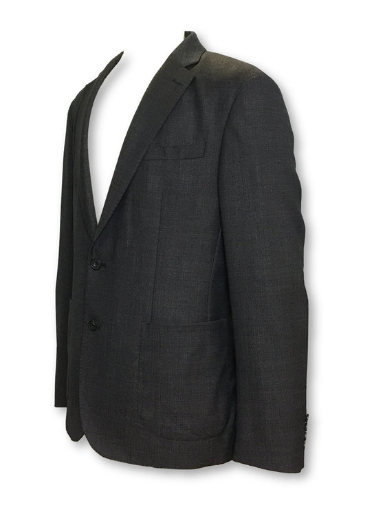 Hardy Amies semi structured jacket in dark grey- khakisurfer.com Latest menswear designer brands added include Eton, Etro, Agave Denim, Pal Zileri, Circle of Gentlemen, Ralph Lauren, Scotch and Soda, Hugo Boss, Armani Jeans, Armani Collezioni.