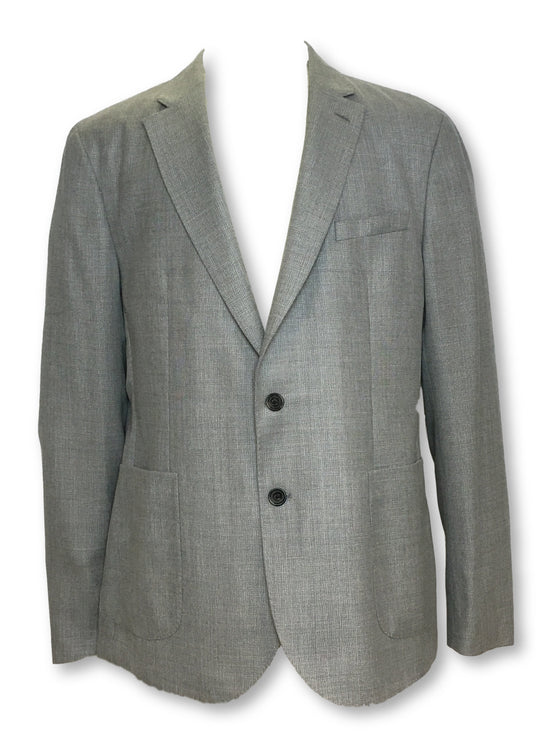 Hardy Amies unstructured jacket in grey subtle pattern- khakisurfer.com Latest menswear designer brands added include Eton, Etro, Agave Denim, Pal Zileri, Circle of Gentlemen, Ralph Lauren, Scotch and Soda, Hugo Boss, Armani Jeans, Armani Collezioni.