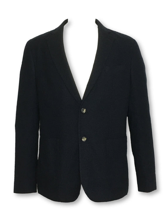 Hardy Amies unstructured jacket in dark navy-khakisurfer.com