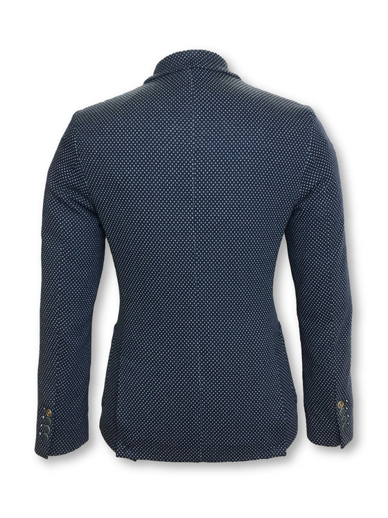 Massimo Rebecchi semi structured jacket in navy diamond- khakisurfer.com Latest menswear designer brands added include Eton, Etro, Agave Denim, Pal Zileri, Circle of Gentlemen, Ralph Lauren, Scotch and Soda, Hugo Boss, Armani Jeans, Armani Collezioni.