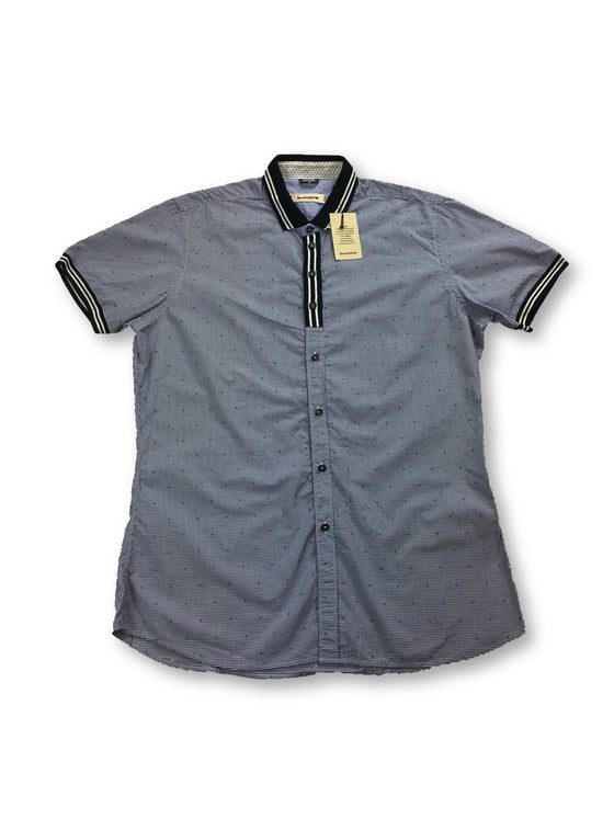 B>more short sleeved slim shirt in blue micro check- khakisurfer.com Latest menswear designer brands added include Eton, Etro, Agave Denim, Pal Zileri, Circle of Gentlemen, Ralph Lauren, Scotch and Soda, Hugo Boss, Armani Jeans, Armani Collezioni.