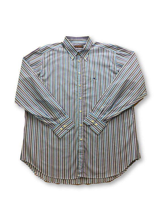 Etro shirt in purple and blue stripe