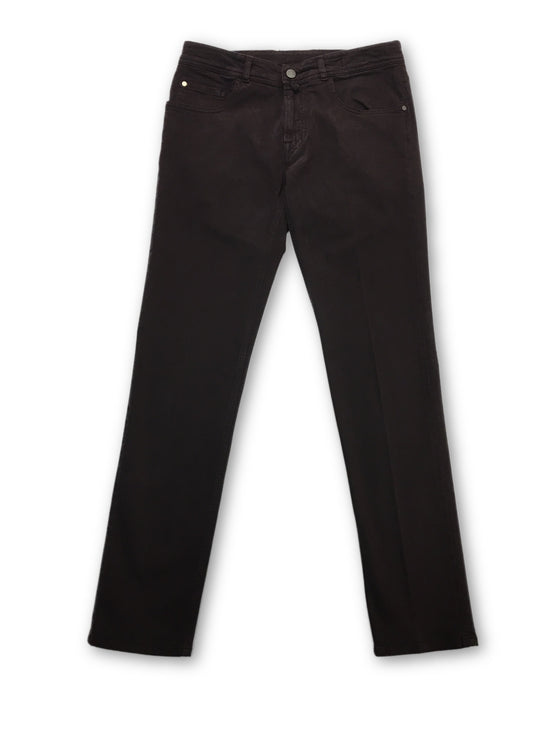 Pal Zileri jeans in burgundy brushed stretch cotton- khakisurfer.com Latest menswear designer brands added include Eton, Etro, Agave Denim, Pal Zileri, Circle of Gentlemen, Ralph Lauren, Scotch and Soda, Hugo Boss, Armani Jeans, Armani Collezioni.