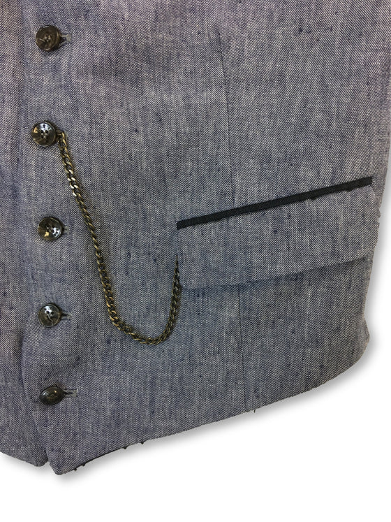 Lords & Fools waistcoat in denim blue- khakisurfer.com Latest menswear designer brands added include Eton, Etro, Agave Denim, Pal Zileri, Circle of Gentlemen, Ralph Lauren, Scotch and Soda, Hugo Boss, Armani Jeans, Armani Collezioni.
