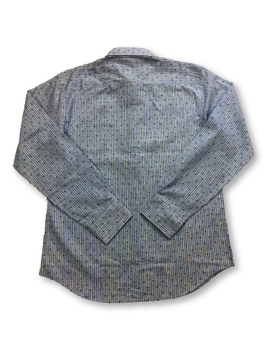 Bugatchi shaped fit shirt with blue micro print- khakisurfer.com Latest menswear designer brands added include Eton, Etro, Agave Denim, Pal Zileri, Circle of Gentlemen, Ralph Lauren, Scotch and Soda, Hugo Boss, Armani Jeans, Armani Collezioni.