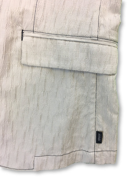 Armani Jeans unstructured jacket in grey textured design- khakisurfer.com Latest menswear designer brands added include Eton, Etro, Agave Denim, Pal Zileri, Circle of Gentlemen, Ralph Lauren, Scotch and Soda, Hugo Boss, Armani Jeans, Armani Collezioni.