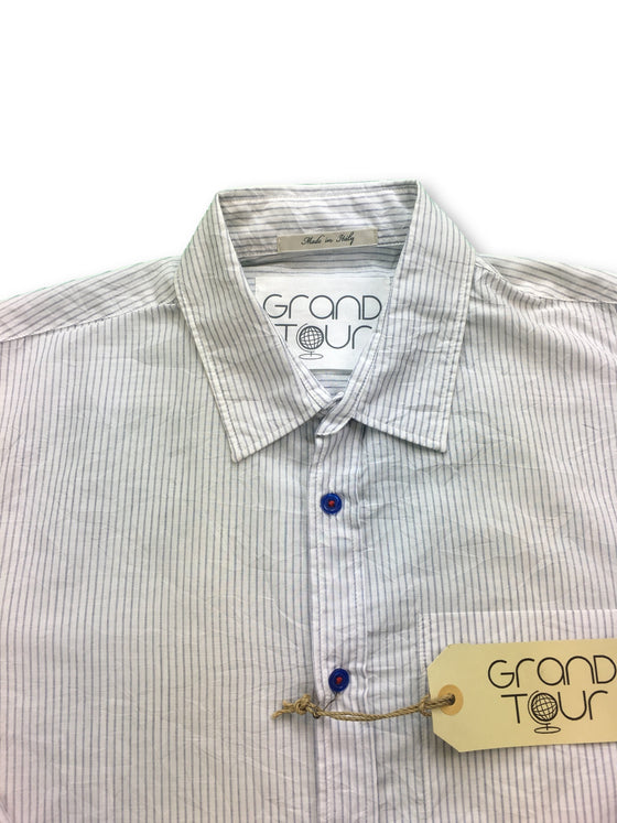 Grand Tour superfine white and blue striped shirt- khakisurfer.com Latest menswear designer brands added include Eton, Etro, Agave Denim, Pal Zileri, Circle of Gentlemen, Ralph Lauren, Scotch and Soda, Hugo Boss, Armani Jeans, Armani Collezioni.