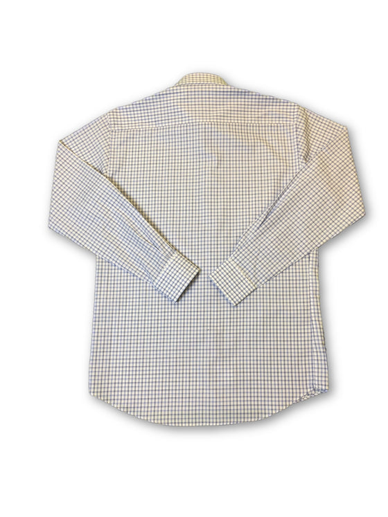 Ingram shirt in white and blue tattersall pattern- khakisurfer.com Latest menswear designer brands added include Eton, Etro, Agave Denim, Pal Zileri, Circle of Gentlemen, Ralph Lauren, Scotch and Soda, Hugo Boss, Armani Jeans, Armani Collezioni.